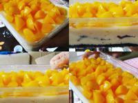[無蛋 免烤]OREO水蜜桃乳酪蛋糕