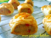 英國傳統香腸酥卷 簡易。家常烘焙。午餐