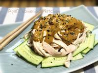 麻醬涼拌小黃瓜棒棒雞(用電鍋)