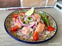 茄兔鮭魚肚溫沙拉