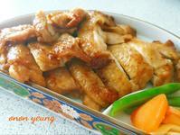 簡易照燒雞腿 新手烤箱料理。家常菜。晚餐