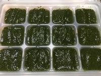 【副食品】小松菜泥 電子鍋烹飪