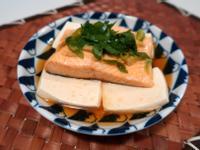 孕媽咪健康食譜: 薑蔥蒸鮭魚豆腐