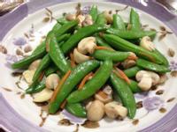 蒜香洋菇炒甜豆