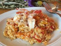 義式鮮蝦番茄米麵 (附熬蝦高湯)