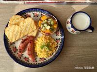 美式早餐🥝芒果紅龍果優酪乳