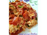 蕃茄炒滑蛋 簡易。家常菜。晚餐
