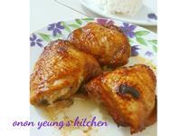 自製海鮮醬。香蜜燒雞腿 烤箱料理。家常菜