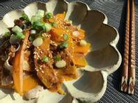 麻醬涼拌南瓜豬肉片