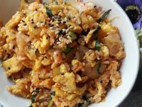 香辣薑黃雞肉泡菜炒飯