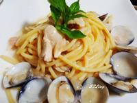 白醬蛤蠣義大利麵