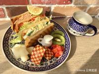 蔬果鮭魚蛋沙拉帕里尼Brunch