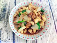 蔥燒杏鮑菇雞腿肉