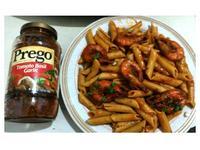 番茄鮮蝦義大利麵