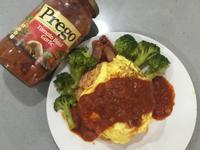 番茄臘腸歐姆蛋包飯