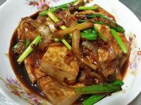 蔥燒洋蔥豆腐♡