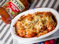 焗烤Prego義大利麵紅醬花枝丸