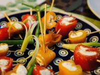 西式點心:彩色甜椒乾酪
