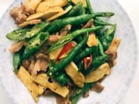 お弁当-170912-豆鼓肉片豆乾糯米椒