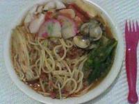 十分輕鬆料理DIY~~海鮮番茄肉醬義大利湯麵