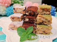 三色雪Q餅~免用烤箱,快速完成的美味甜點