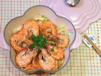 奶油蒜香高麗菜鮮蝦煮[一鍋煮]