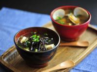 《產地到餐桌》蛤蜊味噌湯,海帶豆腐味噌湯