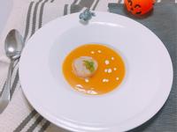 【超豪華萬聖節料理】法式松露干貝南瓜濃湯