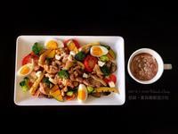 圈媽 香蒜雞腿溫沙拉(烤煎燙三種方式)