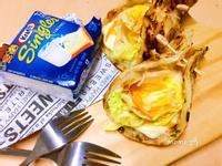 爆漿起司蛋蔬菜捲餅~卡夫起司片