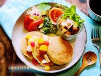 水果豆腐厚鬆餅&地瓜堅果優格