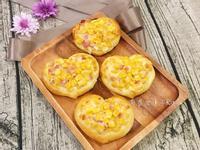玉米培根愛心麵包