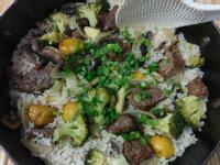 かにの栗子牛肉燉飯