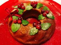 聖誕花圈蛋糕 🎄蔓越莓咕咕霍夫🎄