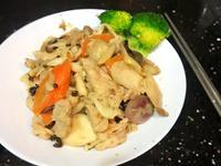 牛油什菌炒肉片 親子共食 簡單食譜