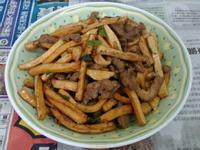 ¥ 豆干炒肉絲 ¥