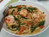 〔健康美味〕海蘆筍鮮蝦義大利麵