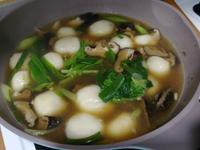 鹹鮮肉湯圓(市售湯圓)