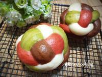 四彩繡球饅頭