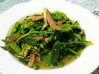 香菇頭炒油菜