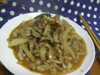 十分鐘上菜─一鍋到底─沙茶洋葱炒豚肉絲
