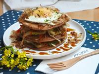 日式野菜豬肉蕎麥鬆餅塔_低脂高纖大口吃