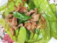 蒜香肉絲荷蘭豆