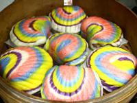 彩色貝殼刈包