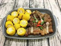 鹹豬肉佐玉米(水波爐料理)