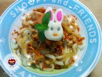 """♡宛の涼夏好""""食""""光 ✿ 韓式泡菜涮豬肉烏龍涼麵"""
