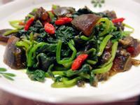 「康寶鮮味炒手鰹魚風味」 皮蛋地瓜葉