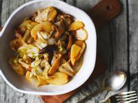 白菜香菇干貝醬炒年糕