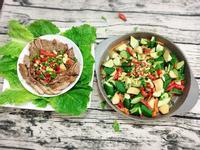 一爐二菜 #蒜香松阪豬肉  #炸野菜