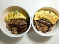 兩人份茄子炒豬肉(蘿蔔排骨湯)